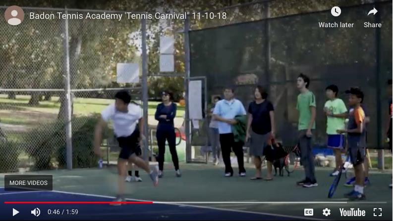 Badon Tennis Academy carnival 2018