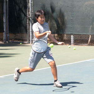 Junior Intermediate tennis class player
