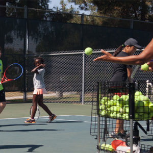 Kids practicing Badon Tennis Academy
