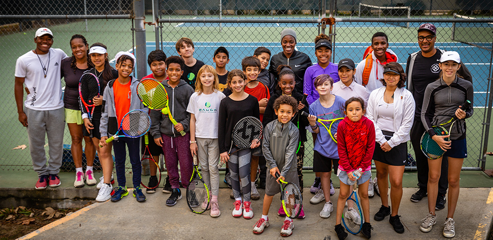 U.S. Open Champion Sloane Stephens Visits the Badon Tennis Academy